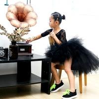 Trailing Baby Girl Tulle Tutu Skirt Girls Black Fluffy Unicorn Birthday Party Tutu Skirts Halloween Costume
