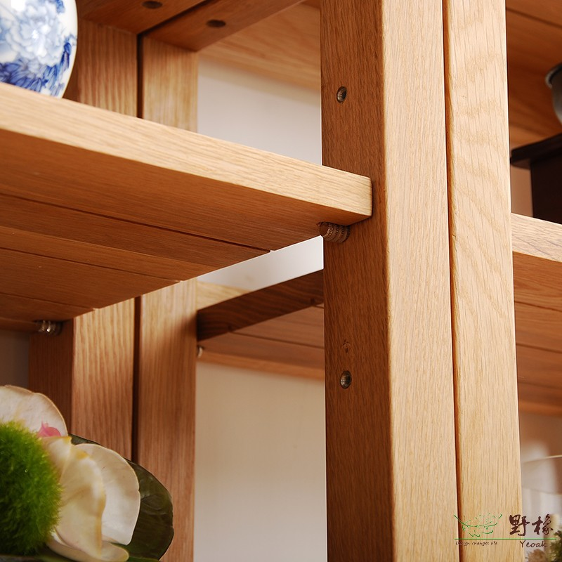 yeoak BC325 3 Simple wood bookshelf display rack combination ...