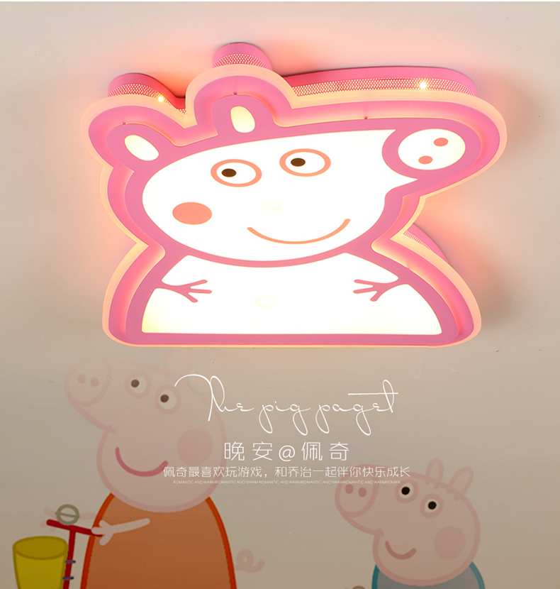 LICAN Kids Room Cartoon Lights Piggy Patch George Children room Ceiling Lights Dimming Baby room ceiling lamp for boys and girls creative stepless dimming led color cartoon dolphin crystal ceiling lamp children boys and girls study dining room light fixture