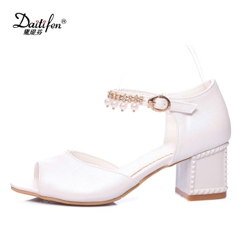 Chunky Wedding Heels: Daitifen Chunky Heel Sandals Summer Women High Heels