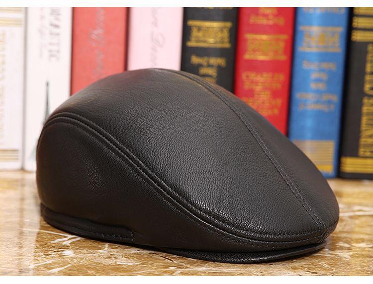 men natural Sheepskin beret (5)