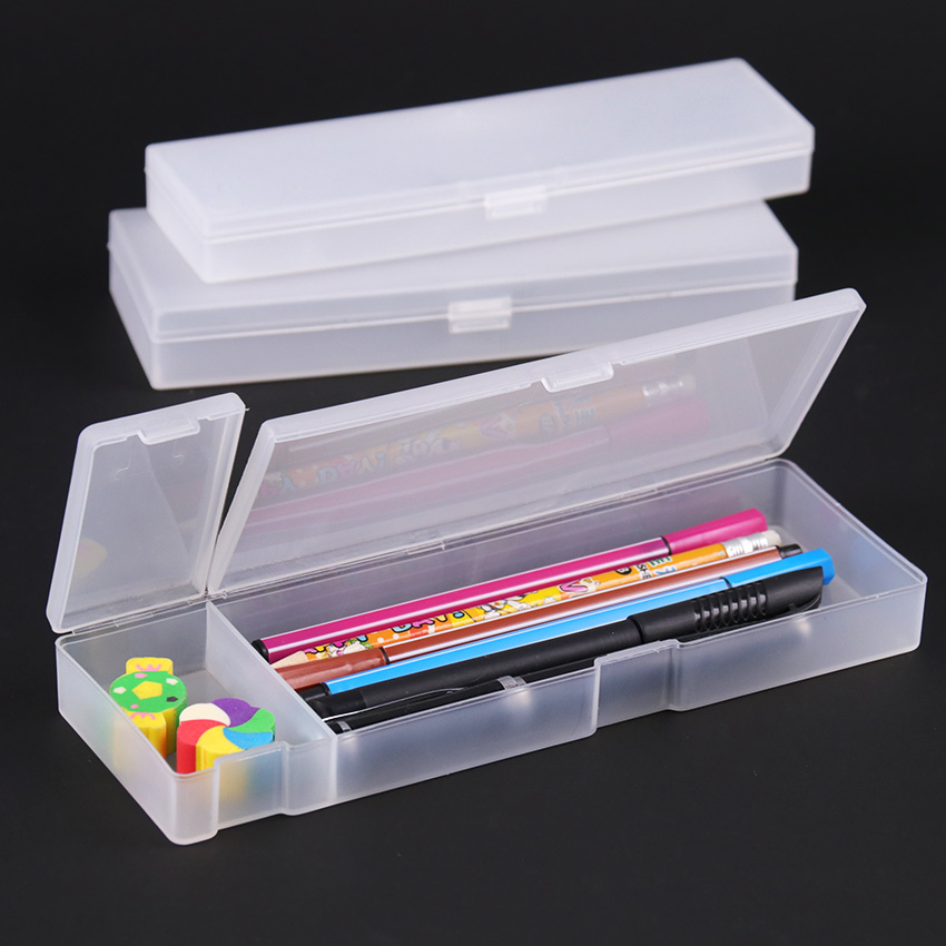 Creative Stationery Pencil Case Transparent Frosted Gift School Pencil Box Pencilcase Pencil Bag School Supplies