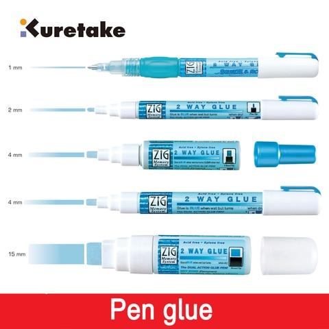 sistema de memoria forma 2 zig kuretake canetas cola ambiental adesivos diy mao trabalho cola