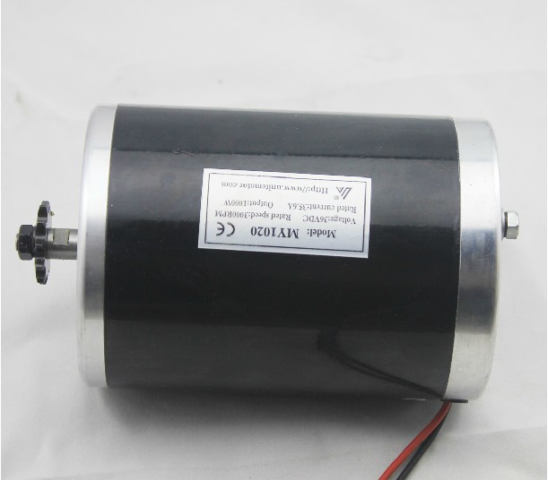 цена на MY1020 1000W 36V motor ,brush motor electric tricycle , DC brushed motor without Bottom plate, Electric Scooter motor