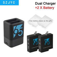 Dual Charger For Gopro Hero 7 6 5 Ahdbt-501 Slots Battery Charger Double Usb Charging For Go Pro Hero 5 Accessories цена и фото