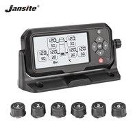 Jansite Грузовик TPMS шин давление мониторинга системы батарея мощность цифровой ясно дисплей Авто охранной Сигнализации s шин давление