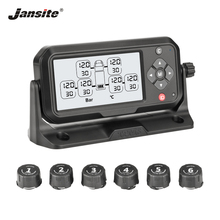 Jansite Truck TPMS Tyre Pressure Monitoring System Battery Power Digital Clear Display Auto Security Alarm Systems Tyre Pressure цена и фото