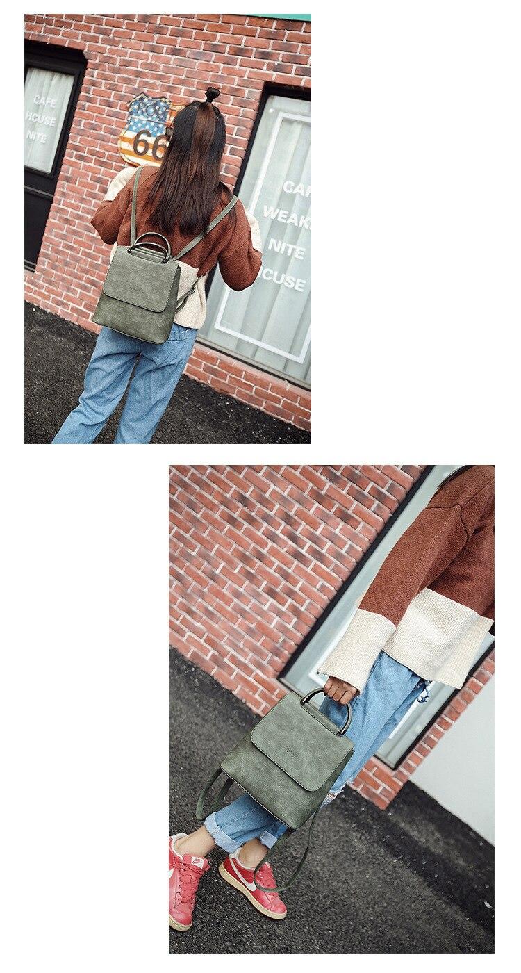 HTB1NiCzSZfpK1RjSZFOq6y6nFXaF Fashion Women Backpack Pu leather travel bagpack large School Shoulder Bags For Teenager Girls mochila feminina 2019 Quality