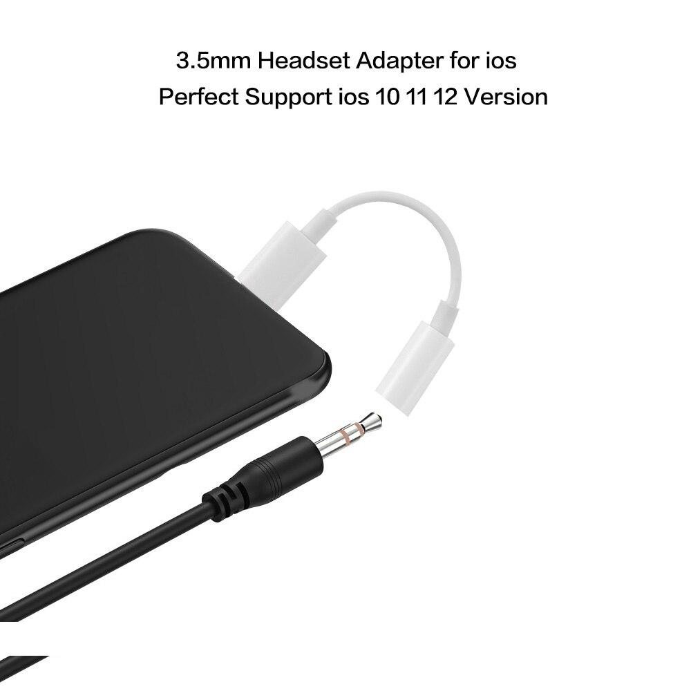 1 Pc Universele 3.5mm Jack Adapter Aux Hoofdtelefoon Adapter Kabel Voor Iphone 7 8 X Xs Max Xr Headset Audio Adapter Telefoon Accessoires Om Een Gevoel Op Gemak En Energiek Te Maken