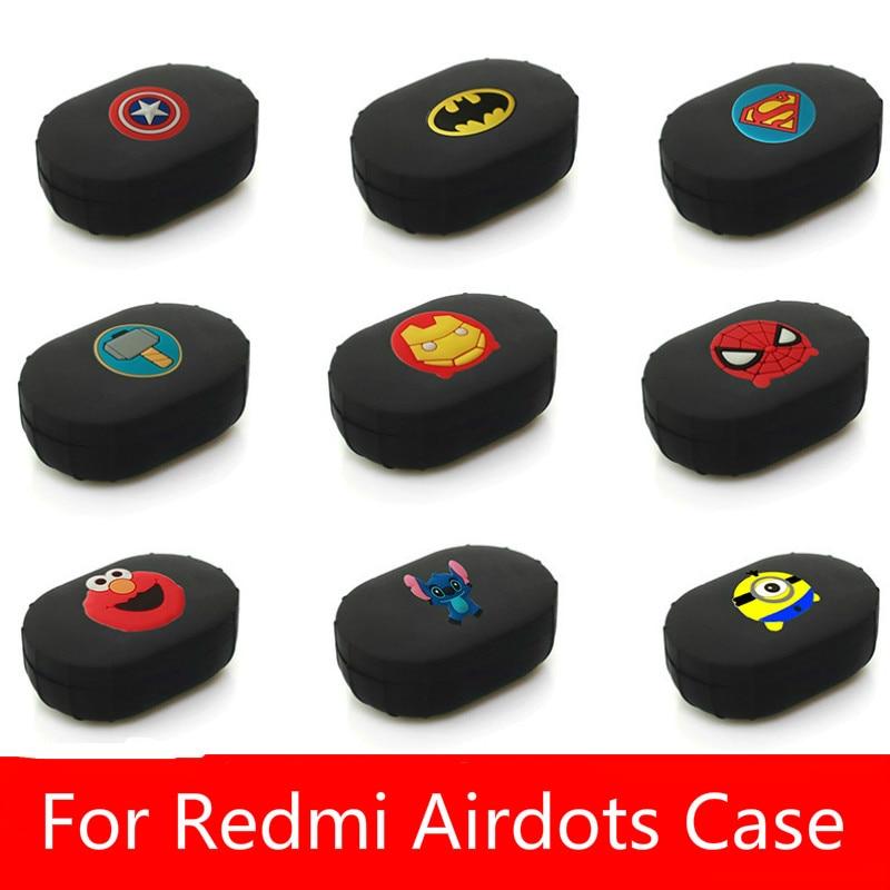 Silicone Case Cover For Xiaomi MI Redmi AirDots Version Wireless Bluetooth Earphone TWS Charging Case Soft TPU Shell Funda