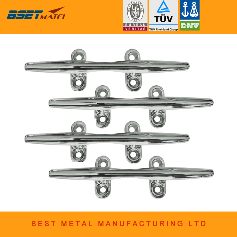 10 inch 4 pieces BEST METAL stainless steel 316 heavy duty hollow open base Cleat bollard of marine hardware amt9518 10 4 inch