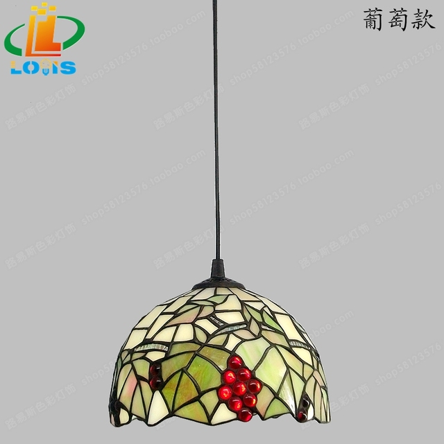Merveilleux Grape Small Pendant Tiffanylamp European Table Lighting Retro Garden Bar  Lamp Piaochuang Sink Terrace Lamps Stained