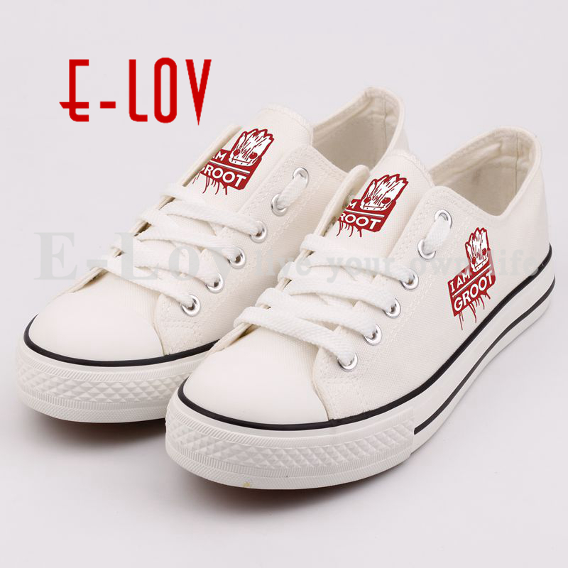 E-LOV New Arrival Printed  Casual Canvas Shoes Funny Print I Am Men Boys Cosplay Shoes Espadrilles