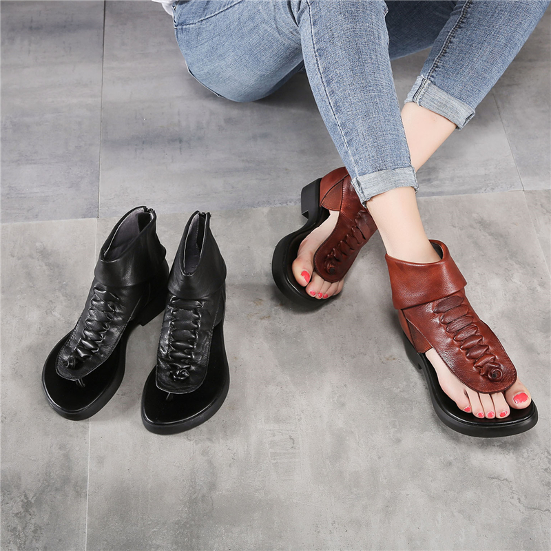 Tyawkiho Women Sandals 2018 Fashion Soft Leather Low Heels Brand Women Summer Shoes Genuine Leather Sandals Handmade Rome Shoe summer shoes woman handmade genuine leather soft sandals casual comfortable women shoes 2017 new fashion women sandals