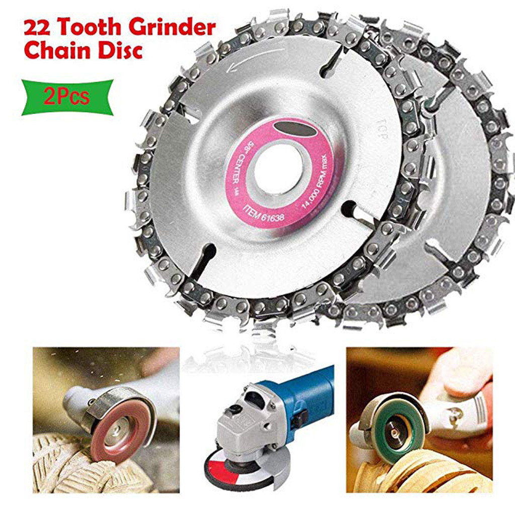 2019 Hot New Products Grinder Chain Disc 4 Inch Wood Carving Disc For 100/115mm Angle Grinder 22 Tooth Family Low Price Shipping