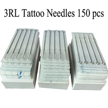 150pcs/Lot Professional Tattoo Needles 3RL Disposable Assorted Sterile 3 Round Liner Needles For Tattoo Body Art