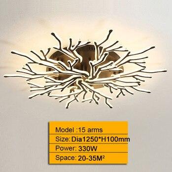 New Arrival Black Finish Modern Led Chandelier For Living Room Master Room Bedroom Fixtures AC85-265V Chandelier Fixture 12