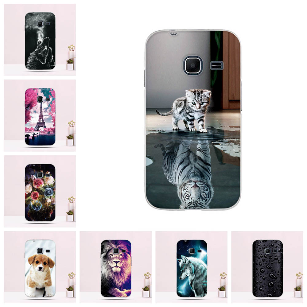 Back Cover For Samsung Galaxy J1 Mini J105H Case Silicone TPU Phone Cases Ultra Thin Cute Cat 3D Pattern Shell Animal Fundas