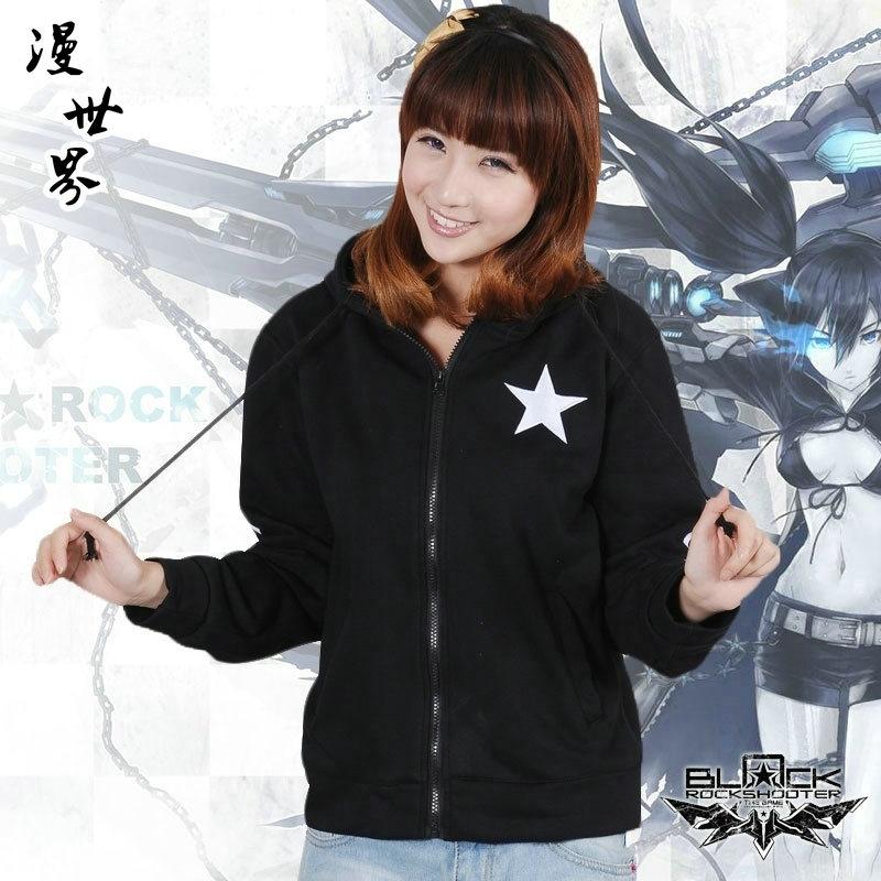 Anime coat BLACK ROCK SHOOTER cosplay costume Koro Sensei cos blouse hoodies