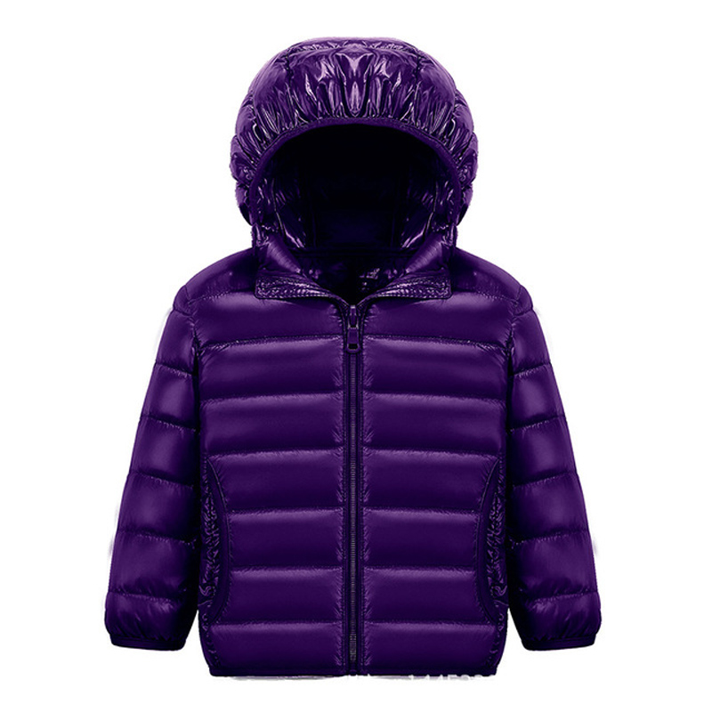 90% White DucK Down Winter Jackets for Boys Girls Ultra Light Portable Hooded Down Coat Overalls for Children Baby Down Jacket 5