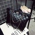 Nuevo 2015 Mujeres Bolsos de Cuero de LA PU Diseño Original de Moda Portátil Bolsos de Hombro de la Cadena Tejida Messenger Bags Acolchado XA1206B