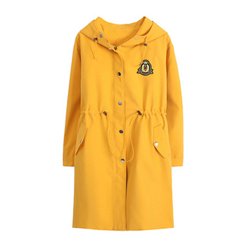 New Product Plus Fertilizer to Increase Windbreaker British Fashion Coat Woven Solid Color Trend Loose Women's Long Coat