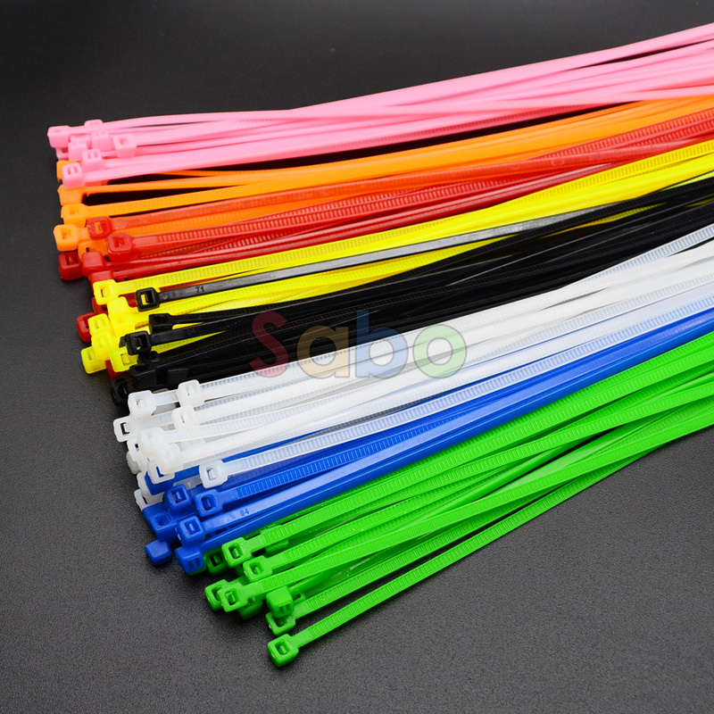 100Pcs/pack 4*200mm width 2.7mm Colorful Factory Standard Self-locking Plastic Nylon Cable Ties,Wire Zip Tie yds 200m 4 x 200mm self locking nylon cable tie wraps white 500 pcs page 7