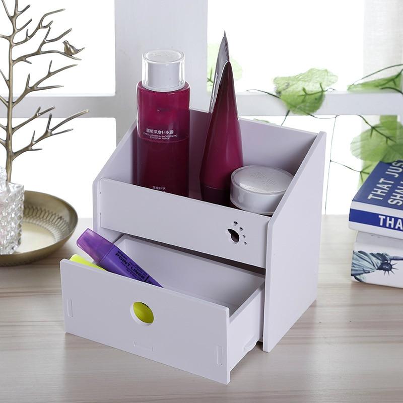 Creative DIY Storage Box Multifunction Cosmetic Box Makeup Organizer Desktop Cell Phone Remote Control Container 1PC