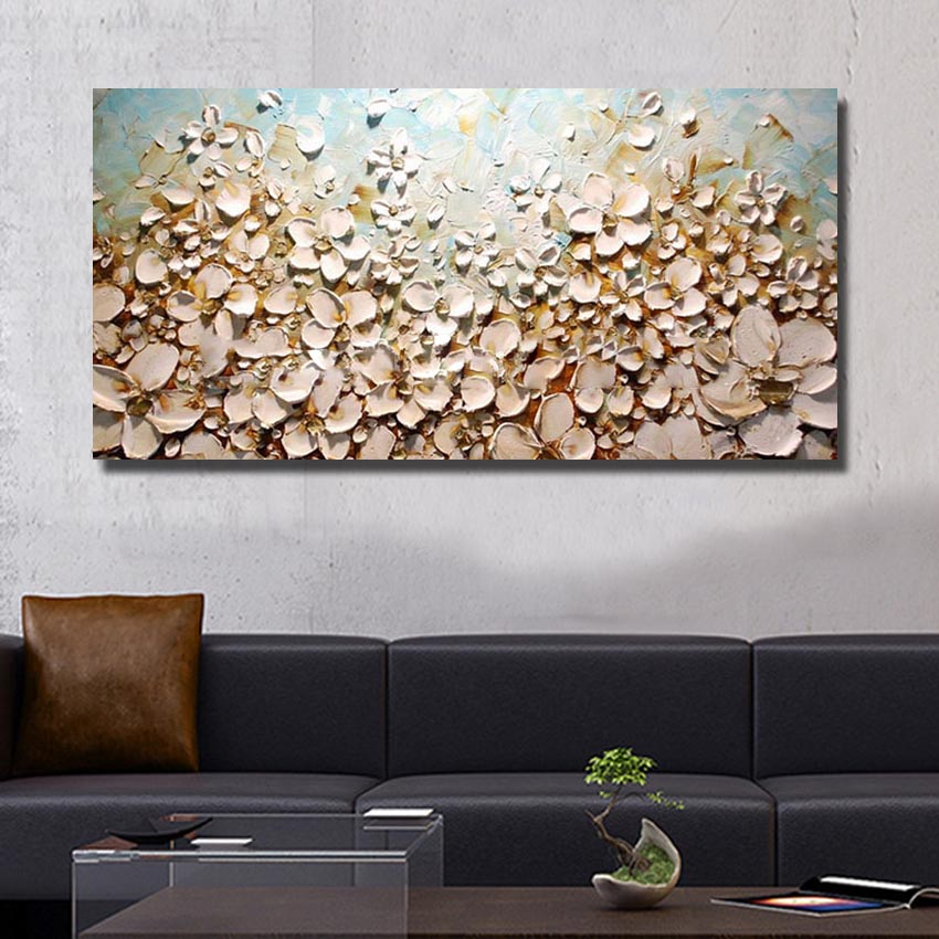 POP Modern 100% Handmade Oil Painting Pictures On The Wall Art Decoration Abstract Oil Painting On Canvas Thick Oil Flowers