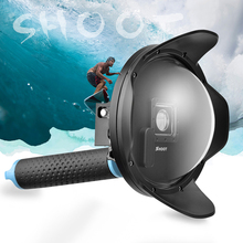 SHOOT 6″ LCD Underwater Dome Port Lens Dome Cover Waterproof Housing Case Anti-fog Inserts for GoPro Hero 4 3+ Camera Accessory