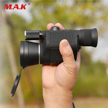 8x40 Multifunctional Daily Waterproof Monocular Telescope Zoomable High Definition With Light And Compass