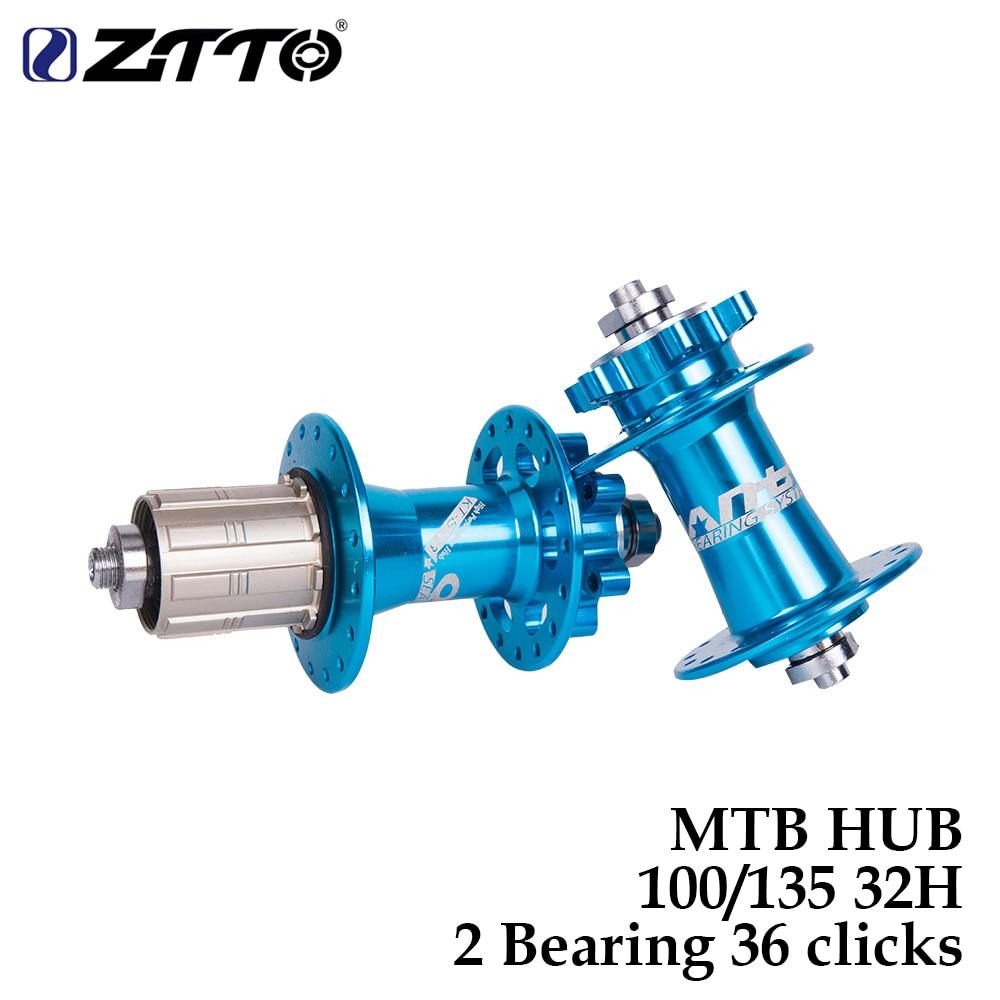ZTTO Bicycle Hub Disc Brake MTB Mountain 2 Bearing Hub 32H Hole 36 clicks quick release