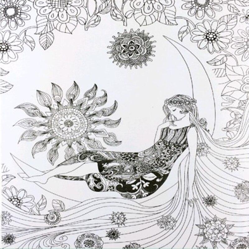 Bajki I Magiczne Sny Kolorowanka Malowanie Mandali Secret Garden