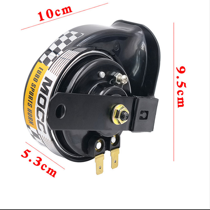 12V 135DB Black Car Horn 10 x 10 x 6cm Snail Waterproof Horn for Almost Vehicle Trucks Car Universal in Multi tone Claxon Horns from Automobiles Motorcycles