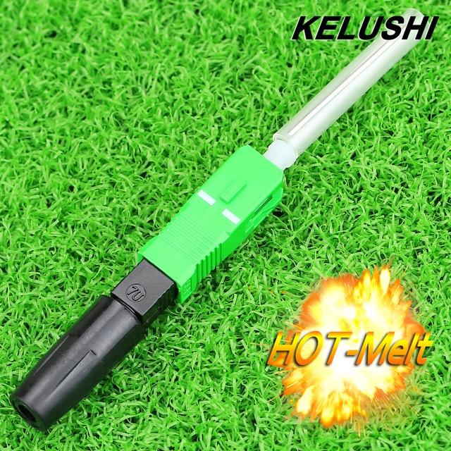KELUSHI Hot Melt Type10pcs SC/APC Fast Fiber Optic Connector Optical fiber Fusion FTTH Fast adaptor