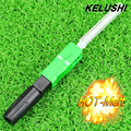 KELUSHI Hot Melt Type10pcs SC/APC Fibra Óptica Rápida adaptador de Conector de fibra Óptica FTTH Fusión Rápida