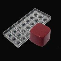 2 pcs per lot Squares Shape Polycarbonate PC Chocolate Modelling Mold