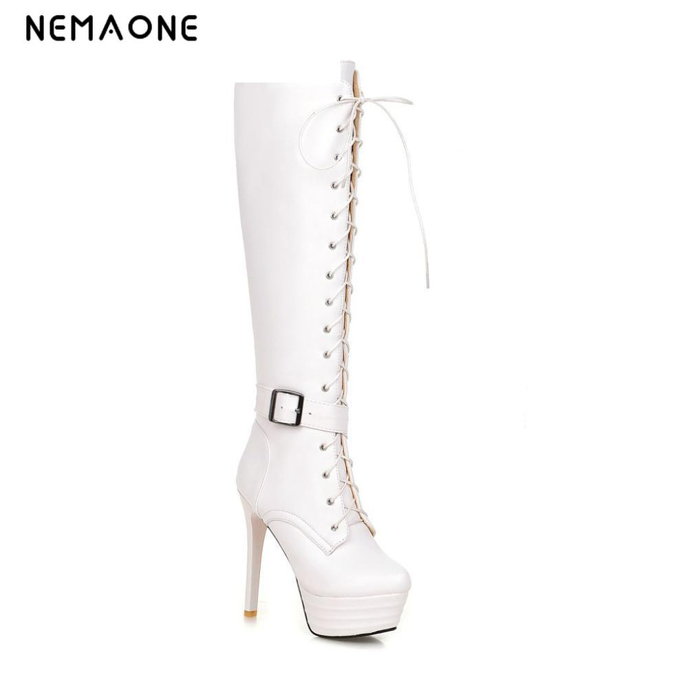 big size 34-43 high thin heels flock boots vintage 2016 Red bottom skinning over knee boots fashion spring pointed toe boots summer bling thin heels pumps pointed toe fashion sexy high heels boots 2016 new big size 41 42 43 pumps 20161217