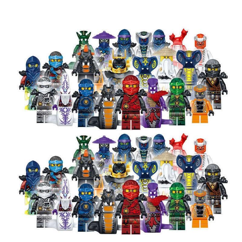 New 24pcs/set 31035 Ninja Series Super Heroes Lloyd Ash Master Vermin Sensei Wu The Wei Snake Bronk Zane Blocks Gift Baby Toys Blocks
