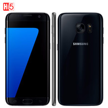 "Unlocked Samsung Galaxy S7 mobile phone 5.1 ""display 32GB ROM Quad Core NFC WIFI GPS 12MP 4G LTE fingerprint(China)"