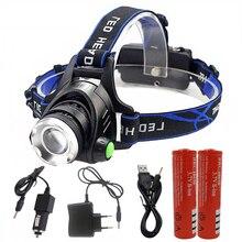 500 люменов Led Leadlamp XM-L T6/L2 Led фары фонарь 4 режима Водонепроницаемый фонарь с 18650 зарядным устройством
