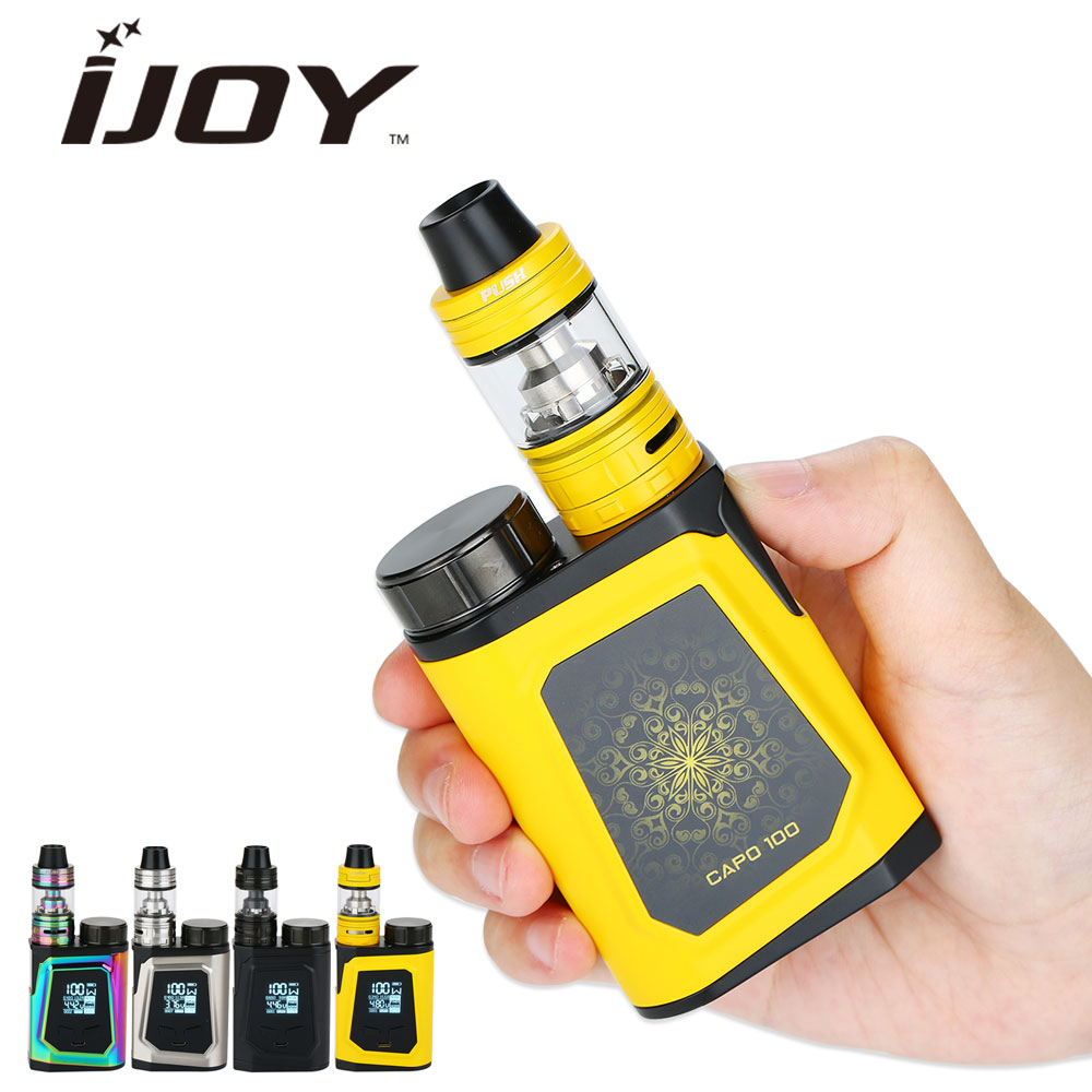 100W Original IJOY CAPO 100 with Captain Mini TC Kit 3750mAh & 21700 Battery 2ml/3.2ml CAPTAIN MINI SUBOHM TANK E-cigarette Kit 100% original 225w ijoy captain pd1865 tc vape kit with 4ml captain tank atomizer