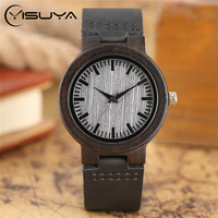 Fashion Sandalwood Watch For Women Ladies Stylish Japan Quartz Leather Wooden Watches Reloj Hombre Clock Female