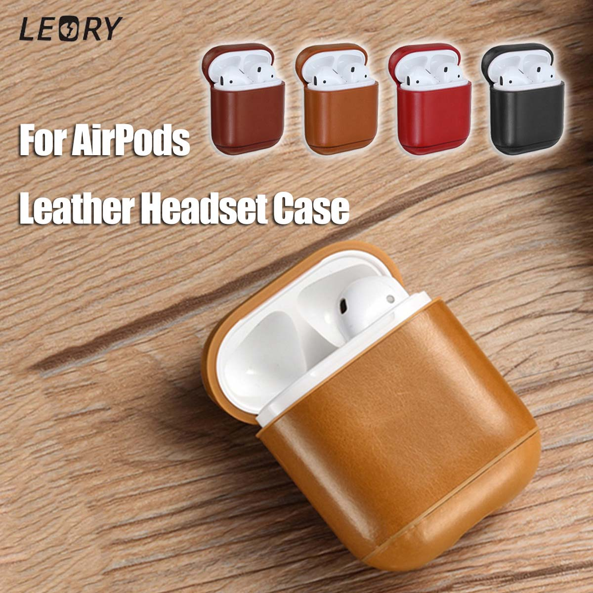 For AirPods Case Cover Earphone Case Protective For Apple for Airpods Leather Headphone Case Earphone Accessories Wireless Cover