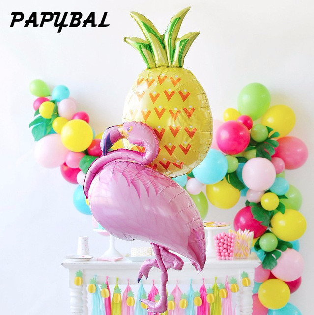 10pcs Flamingo Pineapple Watermelon Balloons Baby Shower
