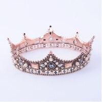 Nuevo Estilo de la Reina de La Corona Rhinestone Adornos Para El Cabello Joyería Europea Princesa Tocado de Novia de la Boda Accesorios