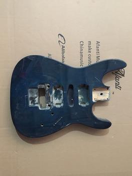 Afanti Music gitara elektryczna DIY korpus gitary elektrycznej (ADK-477) tanie i dobre opinie Unisex Nauka w domu Beginner Do profesjonalnych wykonań Drewno z Brazylii LIPA None Electric guitar Electric guitar body