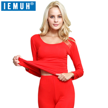 IEMUH Long Johns Winter Thermal Underwear Sets Women Brand Anti-microbial Stretch Women's Thermo Underwear Female Warm Modal