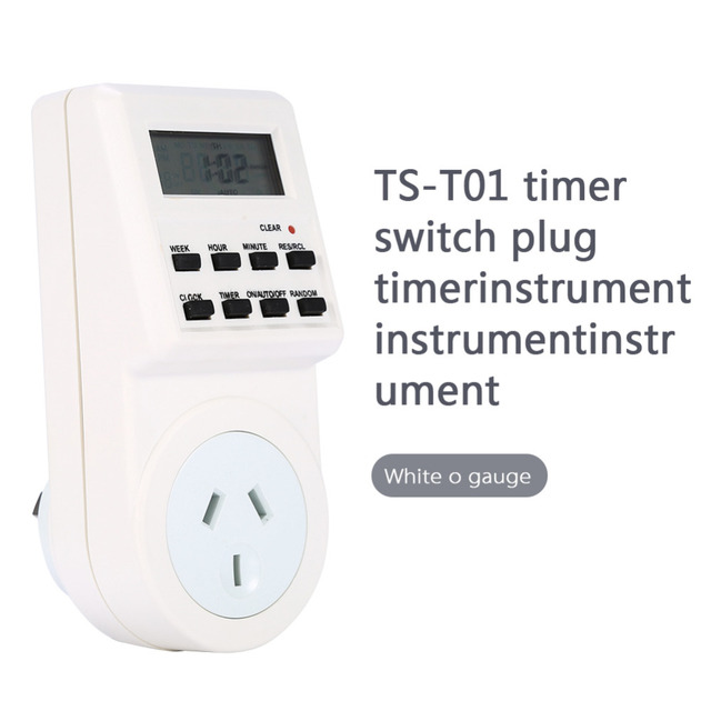 7 Día LCD Digital Electronic Plug-In Programable de 12/24 Horas Temporizador Toma de Interruptor de Casa Inteligente con Alta Calidad Superior