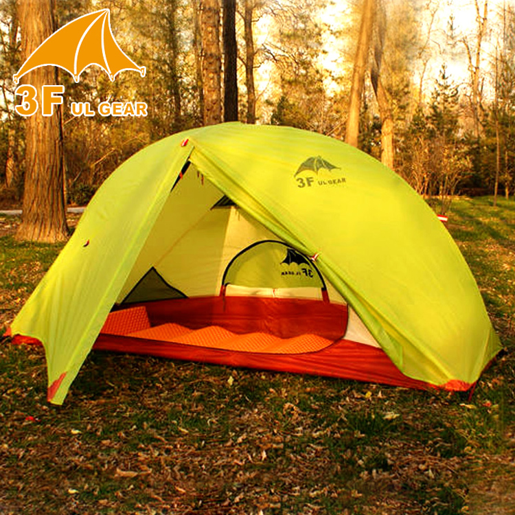 3f ul gear 1 person 210T nylon double layer quality outdoor hiking camping tent outdoor double layer 10 14 persons camping holiday arbor tent sun canopy canopy tent